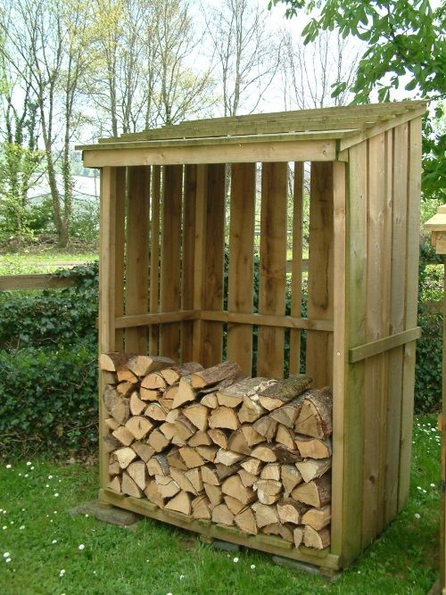 Single Bay logstore with no partition. An ideal storage shed for firewood logs.Single Bay Logstore DimensionsHeight: 6 feet Width: 4 feet Depth: 2 feet 6""