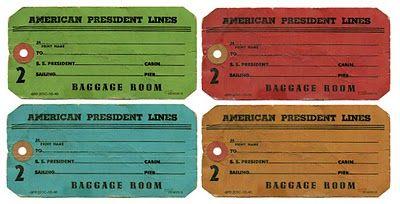 Vintage Baggage/Luggage Tags: Free Digital Images | Just Something I Made