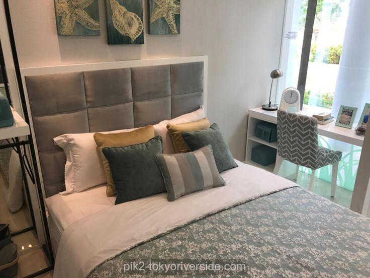Show unit Tokyo Riverside PIK 2, contoh interior design master bedroom.