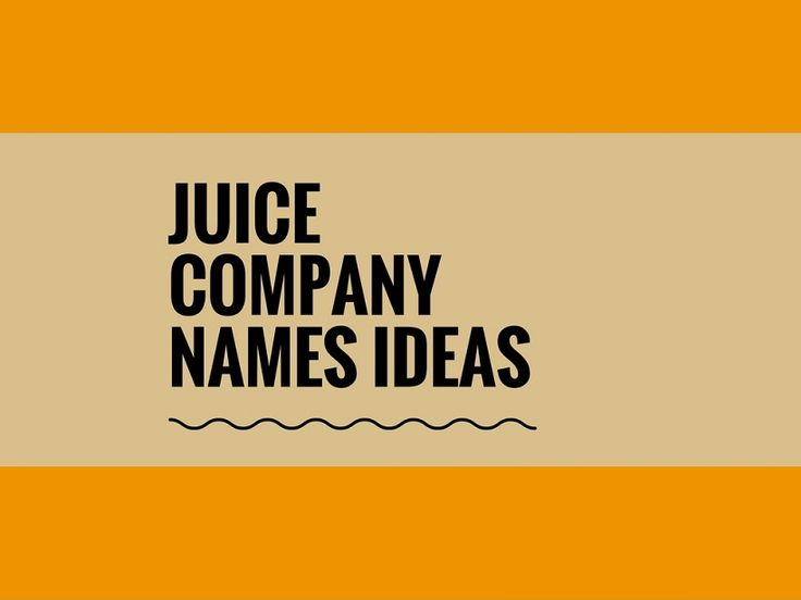While your business may be extremely professional and important, choosing a creative company name can attract more attention.A Creative name is the most important thing of marketing. Check here creative, best Juice company names ideas for your inspiration.
