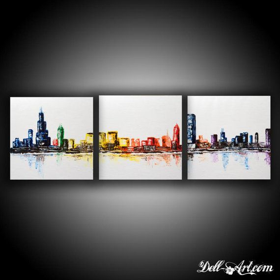 Chicago Three Canvas Skyline