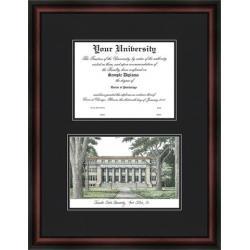 Colorado State Rams Diploma Frame & Lithograph Print