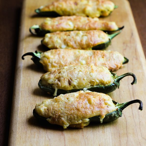 jalapeno poppers filled with cornbread (to try w/ corn casserole stuffed chilies)