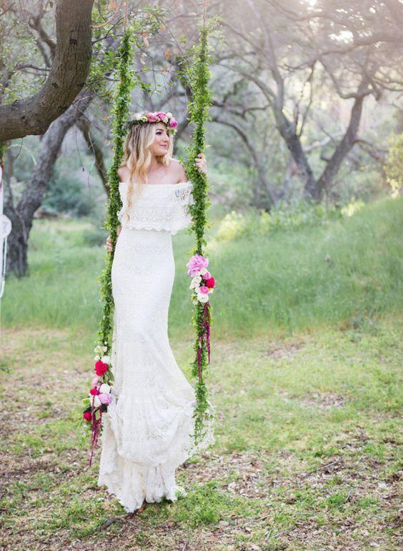 Cool  Wedding Reception D cor Swing Ideas