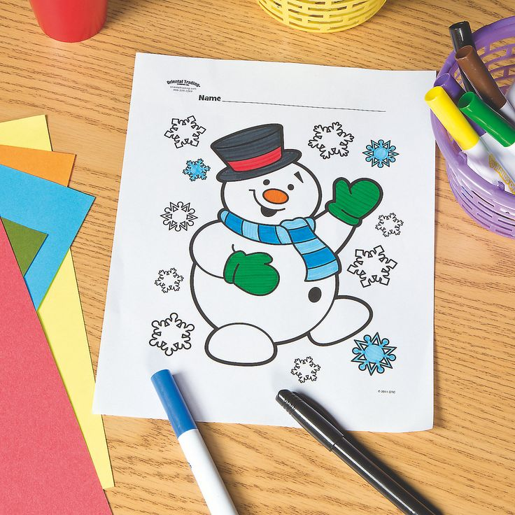 Snowman+Free+Printable+Coloring+Page+-+OrientalTrading.com