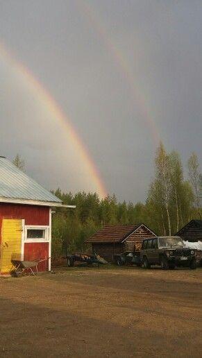 #rainbow #double #beuatyful #like