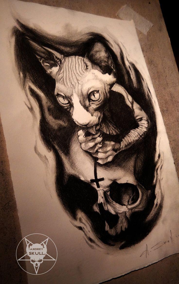 cat by AndreySkull.deviantart.com on @DeviantArt