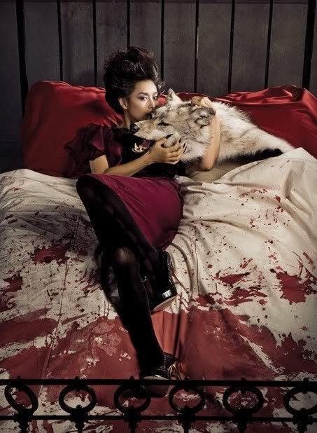 We all know what happened to the last person to share a bed with that wolf... Or was it the woman?