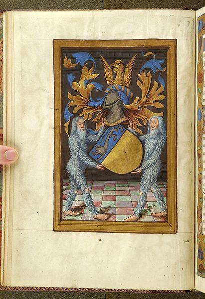 Noms, armes et blasons des chevaliers de la Table Ronde, MS M. 16 fol. 2v - Images from Medieval and Renaissance Manuscripts - The Morgan Library & Museum