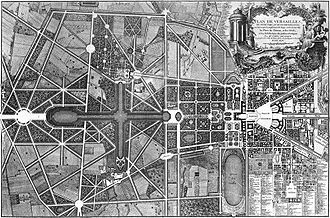 Chateau de Versailles, Versailles, France, plan Delagrive, 1746