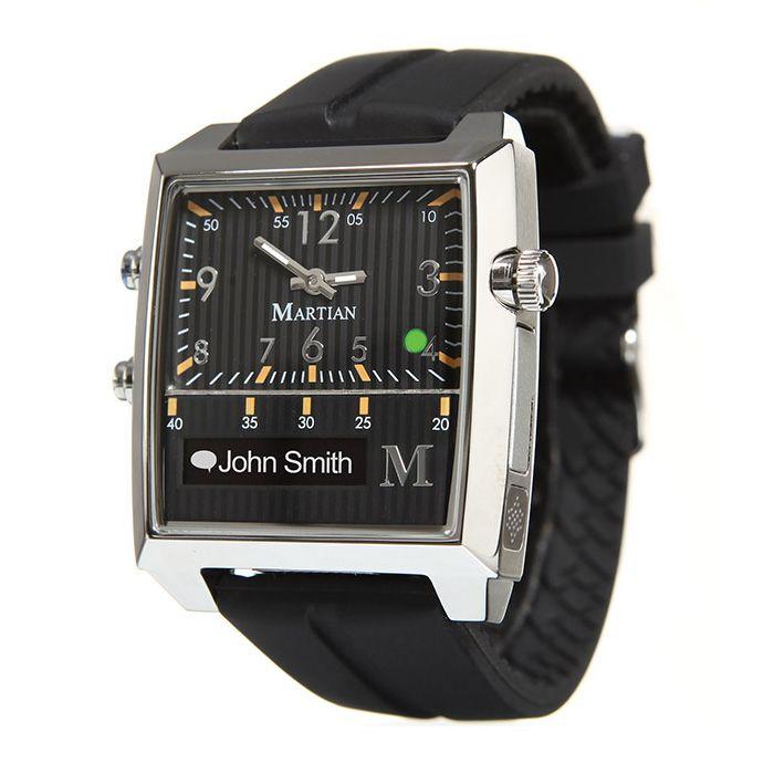 Passport & Black Silicone Band | Martian Smartwatch