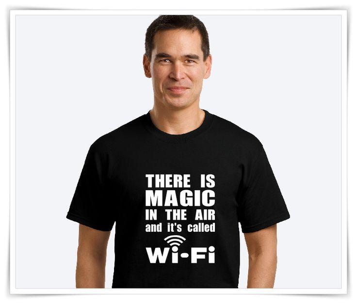 Wi-Fi | Men's T-Shirt | WiFI Shirt |  Men's T-Shirt | Funny Shirts | Online T…