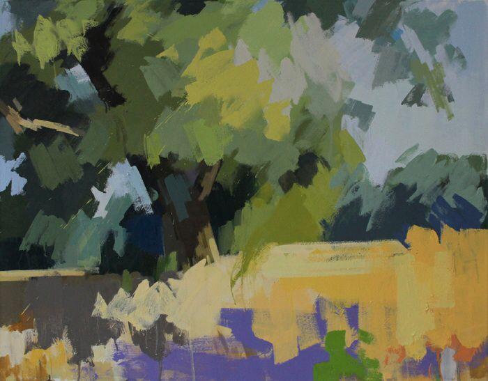 Oak tree Hawkhurst, Summer.  Oil on canvas 30 x 38 ins.   Philip Richardson