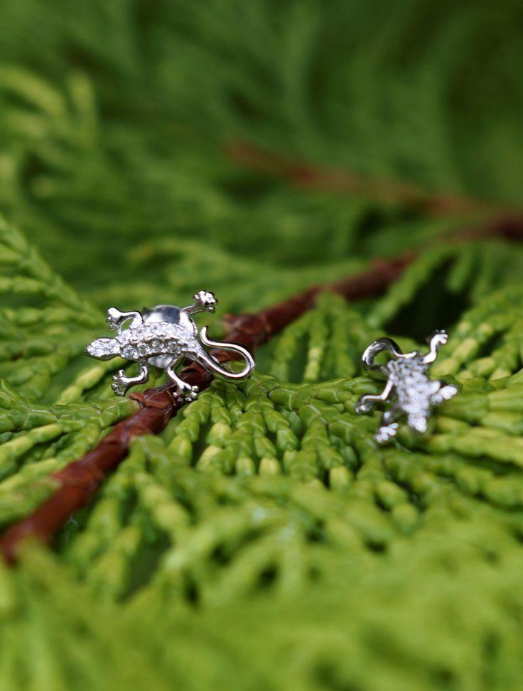Lizard earrings! #jewelry #jewellery #silver #lizard #nature #earrings #biżuteria #jubiler #fashion #kolczyki #srebro #obdarujBlaskiem