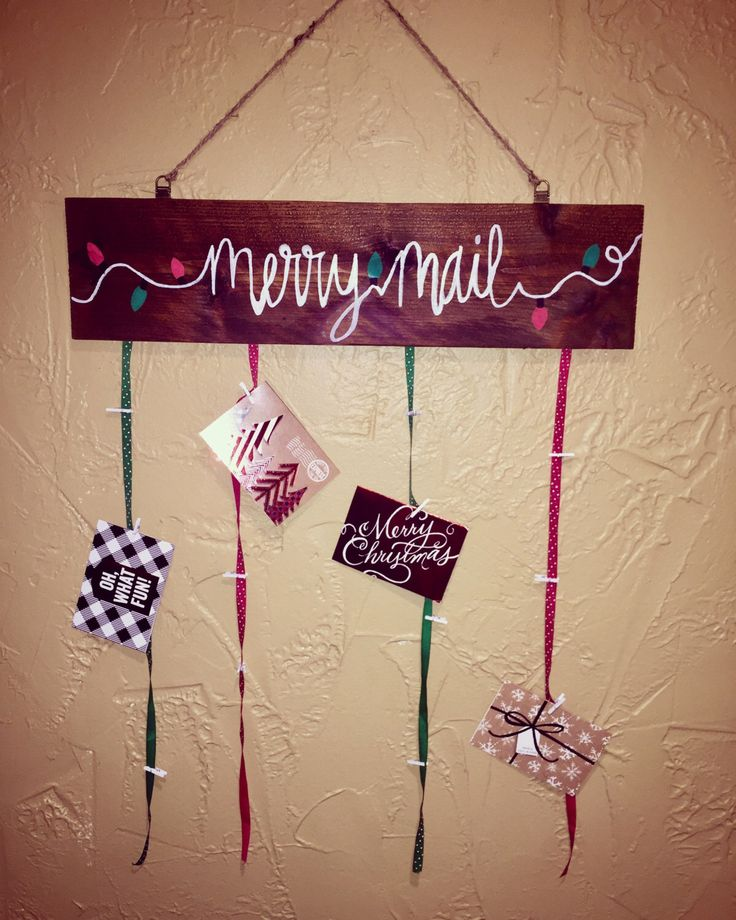 Merry Mail holder by RosewaterDecor on Etsy https://www.etsy.com/listing/475607242/merry-mail-holder