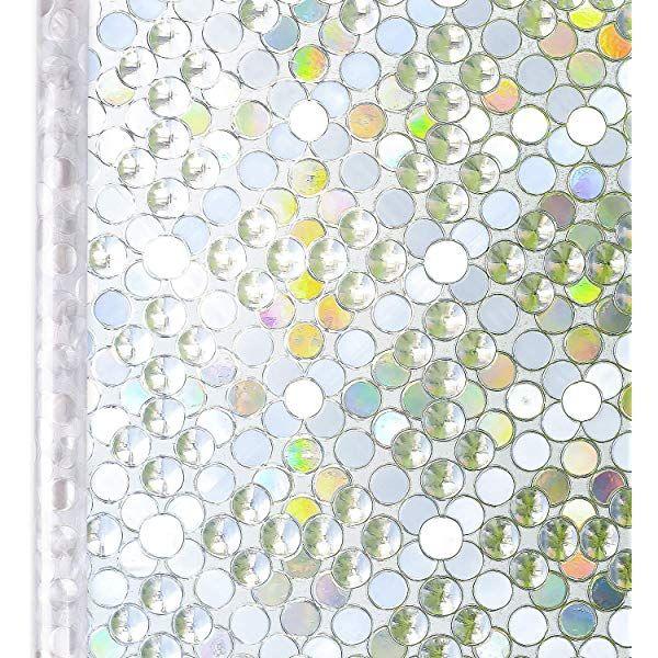 Amazon Fofon 3d窓用フィルム 浴室ベランダ目隠しシート 断熱 紫外線カット 無接着剤 再利用可能 プライバシーガラスフィルム 45 X 200cm なモザイク Fofon 窓用フィルム 通販 ベランダ 目隠しシート 浴室 ベランダ ガラス窓
