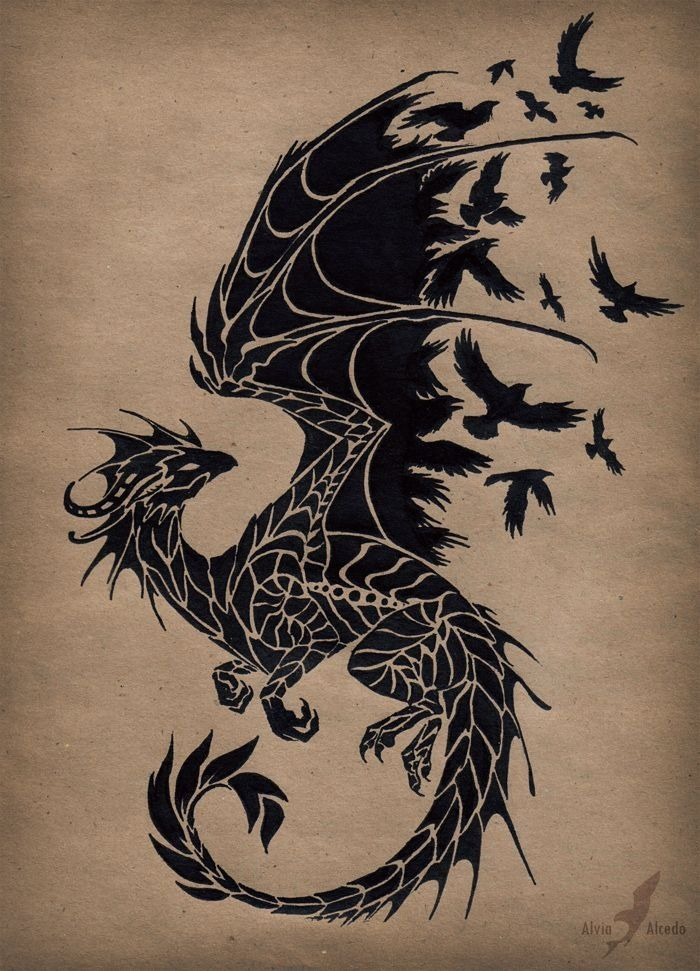 Dragon cool for tattoo