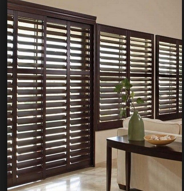 99 best window treatments images on pinterest sheet curtains window coverings and window for Bifold interior window shutters