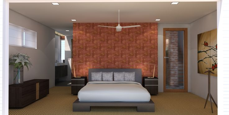 Master bedroom looking toward en suite