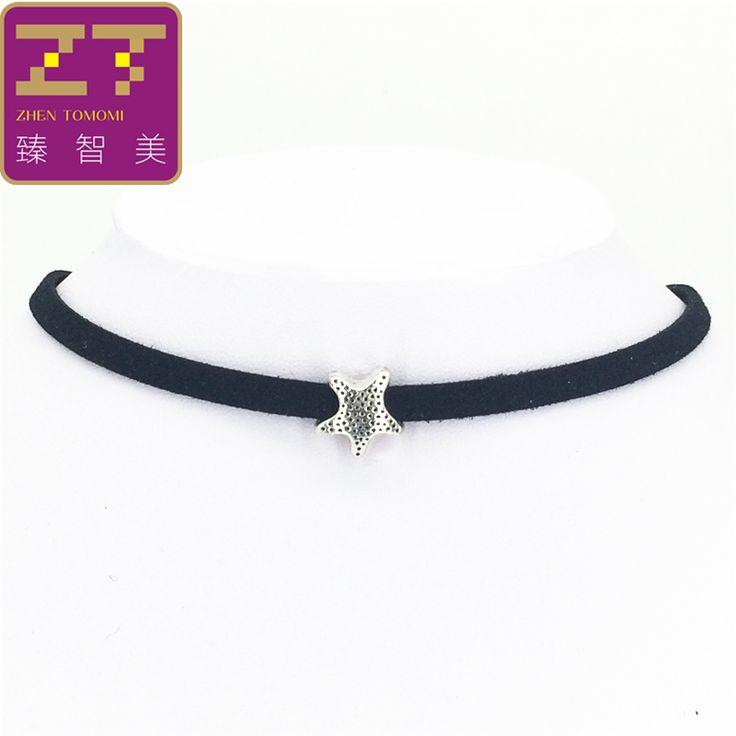 Hot new torques Bijoux Plain Black Velvet Ribbon Retro starfish necklace pendant Maxi statement Chokers Necklace for women 2016