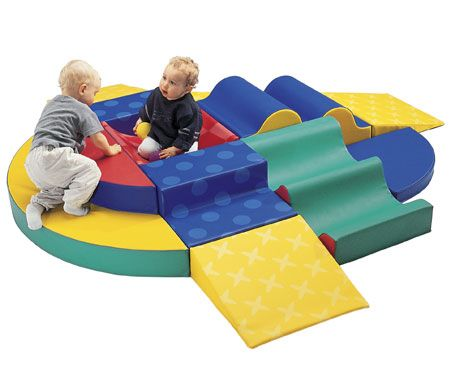 Toddler Foam Section can be configured dozens of ways to fit different shaped areas.    A must have for a toddler area.  #kids