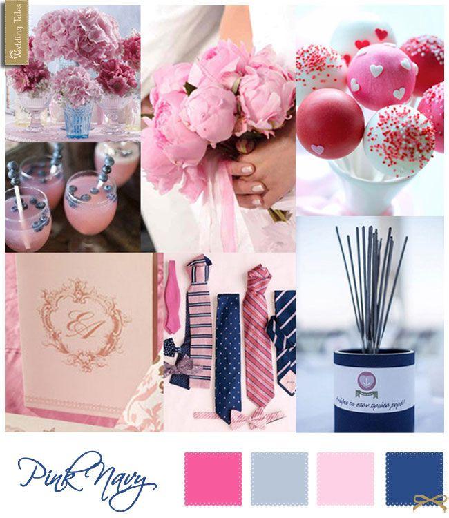 Wedding Moodboard   Pink Navy