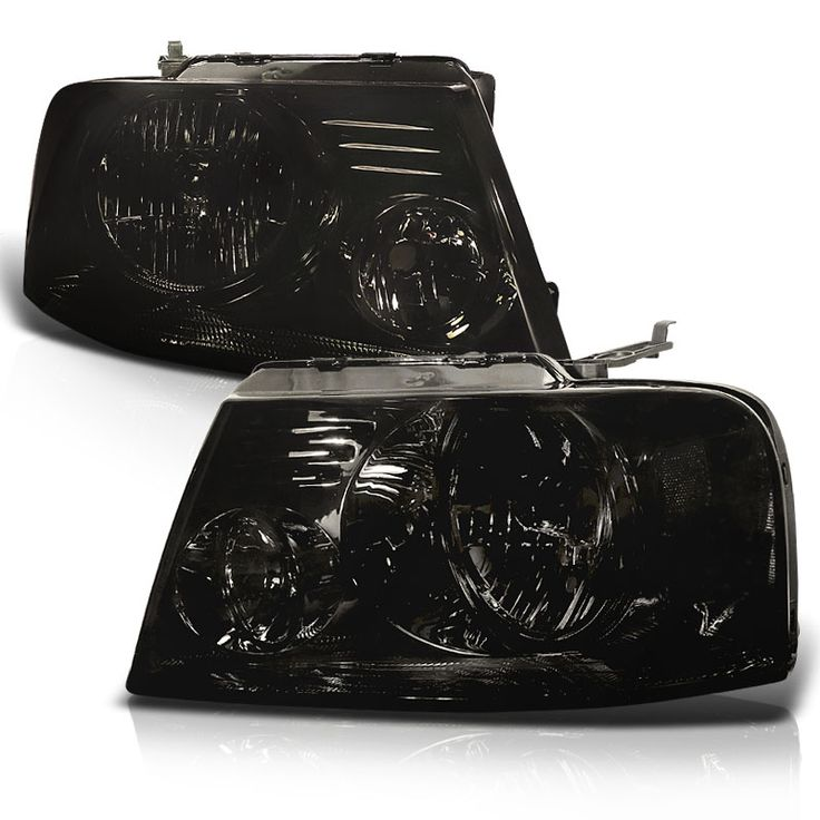 2004-2008 Ford F150 / Lincoln Mark LT Euro Style Crystal Headlights - Smoked