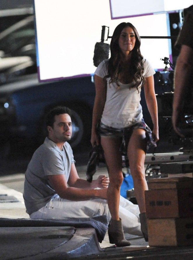 Megan Fox and Jake Johnson - Filming 'New Girl' in LA