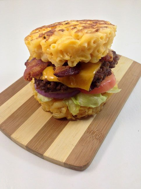 The Macaroni and Cheese Burger Bun | DudeFoods.com Food Blog & Reviews