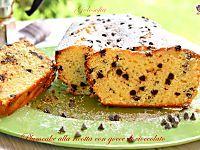Plumcake alla ricotta con gocce di cioccolato-ricetta sofficissima!