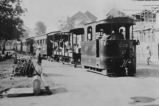 Batavian Railroad Passenger Train in the city that is now Jakarta Indonesia, formerly a Dutch Colony under the name Batavia