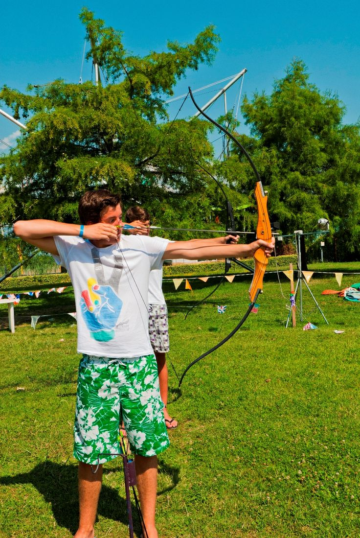 sport lago Garda, villaggio Sirmione, tiro con l'arco