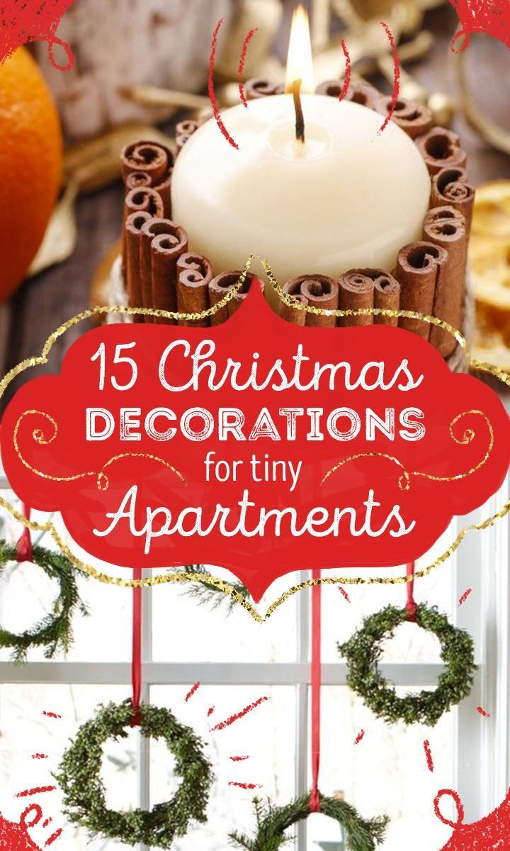 Christmas decor for a small apartment - 15 Creative Christmas Decorations For Tiny Apartments