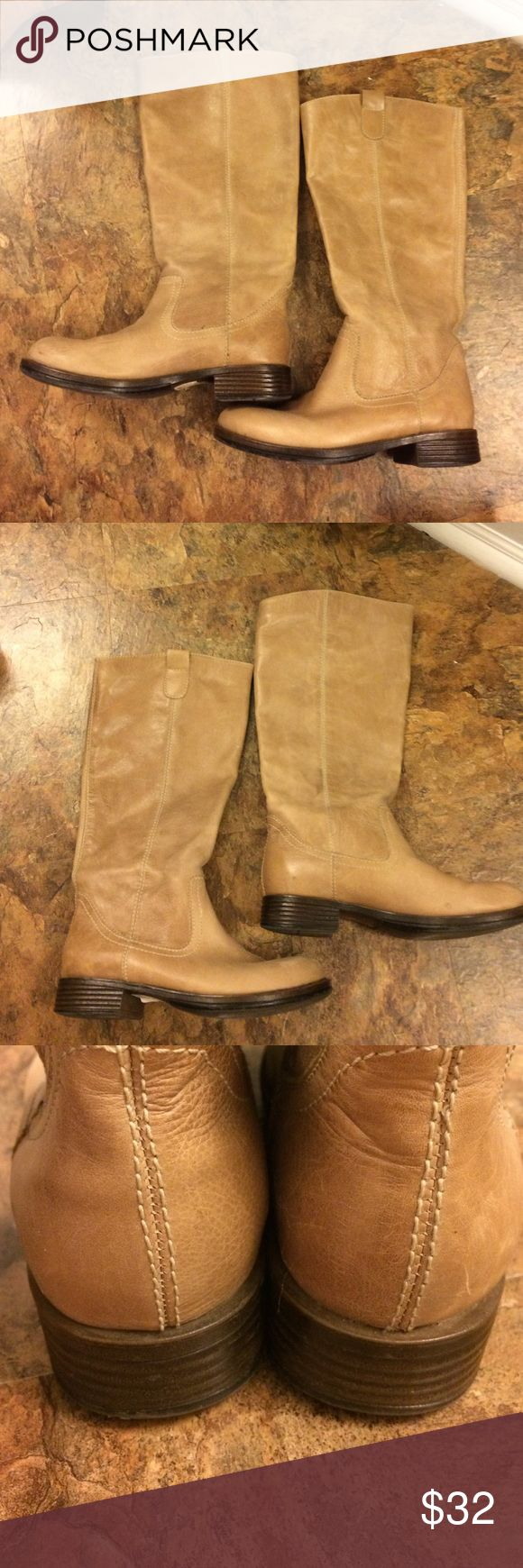 Super cute Tried and Tide ladies leather boots Tried And Tide leather boots. Great condition and size 6 medium. Taupe/tan colored and look great! Soft buttery leather! Tried And Tied Shoes Heeled Boots