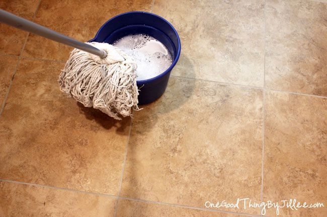 Make Your Own Grease-Cutting Floor Cleaner!One Good Thing by Jillee | One Good Thing by Jillee: Cleaning Tile Floors, Good Things, Cleaning Ceramic Tile Floors, Floor Cleaner, Cleaning Tips, Cleaning Products, Diy Cleaners