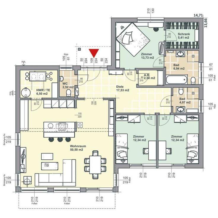 10 besten grundrisse h user bilder auf pinterest. Black Bedroom Furniture Sets. Home Design Ideas