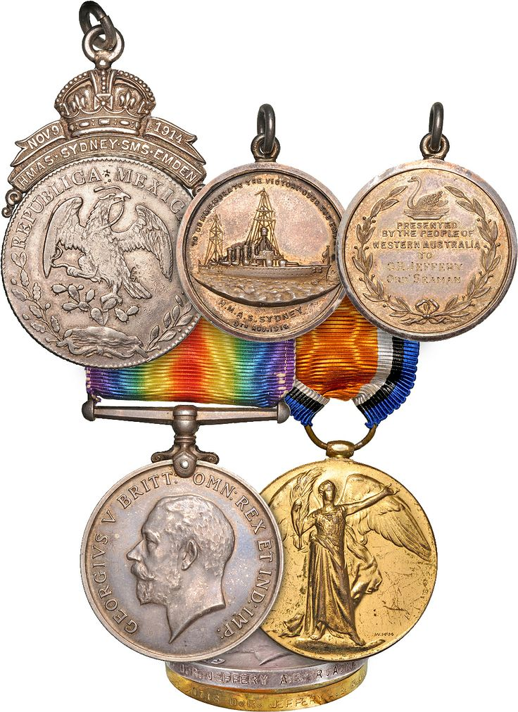 We are proud to be offering a superb group of WWI and later awards to a seaman who was aboard HMAS Sydney at the time of her engagement with the cruiser SMS Emden