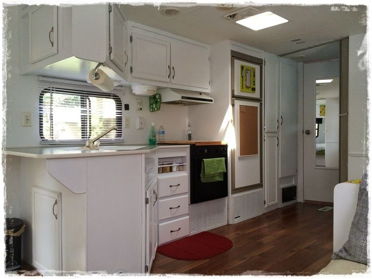 Trailer Adventures: Before And After Pictures. Would LOVE To Do My Trailer  Floors And Cabinets The Same!