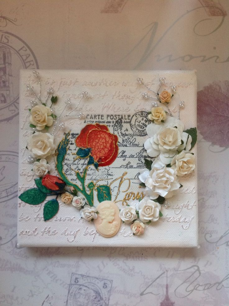 6x6 canvas using an Inkylicious stamp and Pebeo paints - Sarah Field