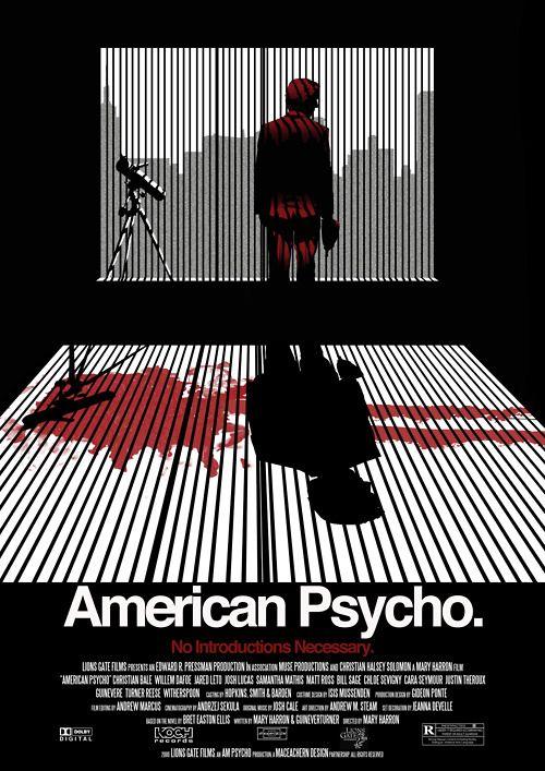 Psicopata Americano (2000) ★★★★ - Revisto. Um filme incrível que te proporciona excelentes risadas. Um thriller noir e surreal que apresenta um final intrigante. Vale muito... #FilmsByWoman