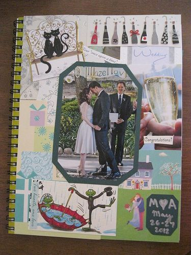 Wedding scrapbook made of wedding cards!!    What to do with all those wedding cards? | Offbeat Bride