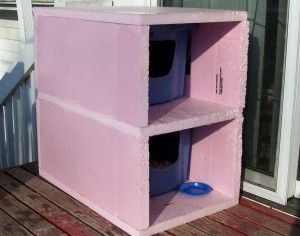 Stray cats living outside -- ideas for insulated cat houses.