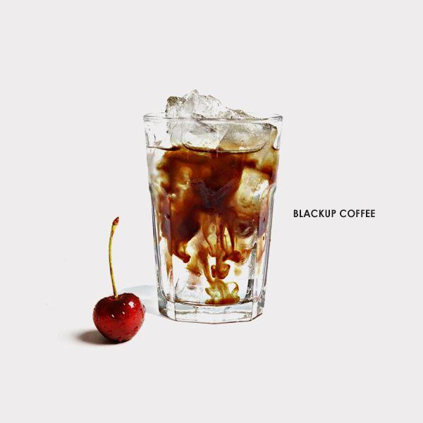 BLACKUP COFFEE Blending coffee cherries burgundy