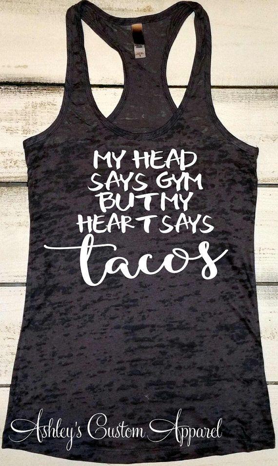 Womens Fitness Tank  Funny Workout Shirt  by AshleysCustomApparel
