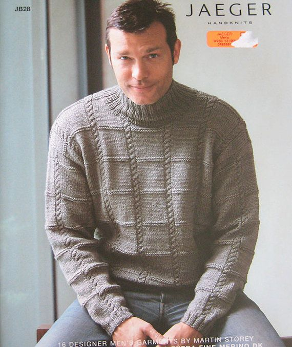 Jaeger Mens Handknits Knitting Pattern Book JB28 by TheHowlingHag, $11.95
