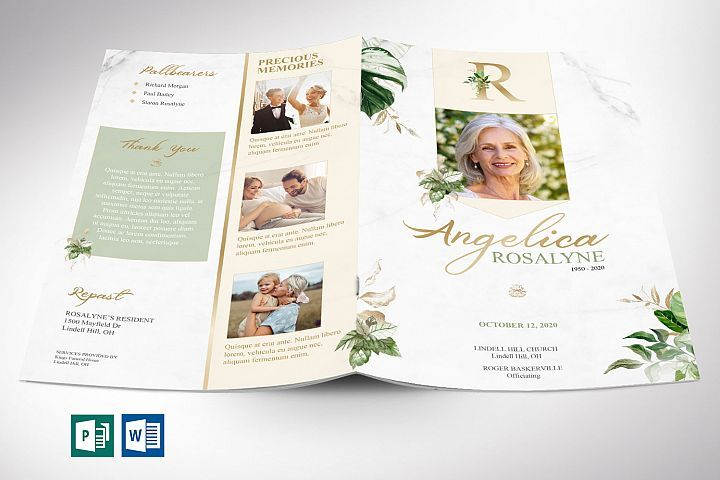 Tropica Funeral Program Word Publisher Template 4 Pages Godserv Designs Templates Brochures Funeral Programs Funeral Program Template Publisher Templates