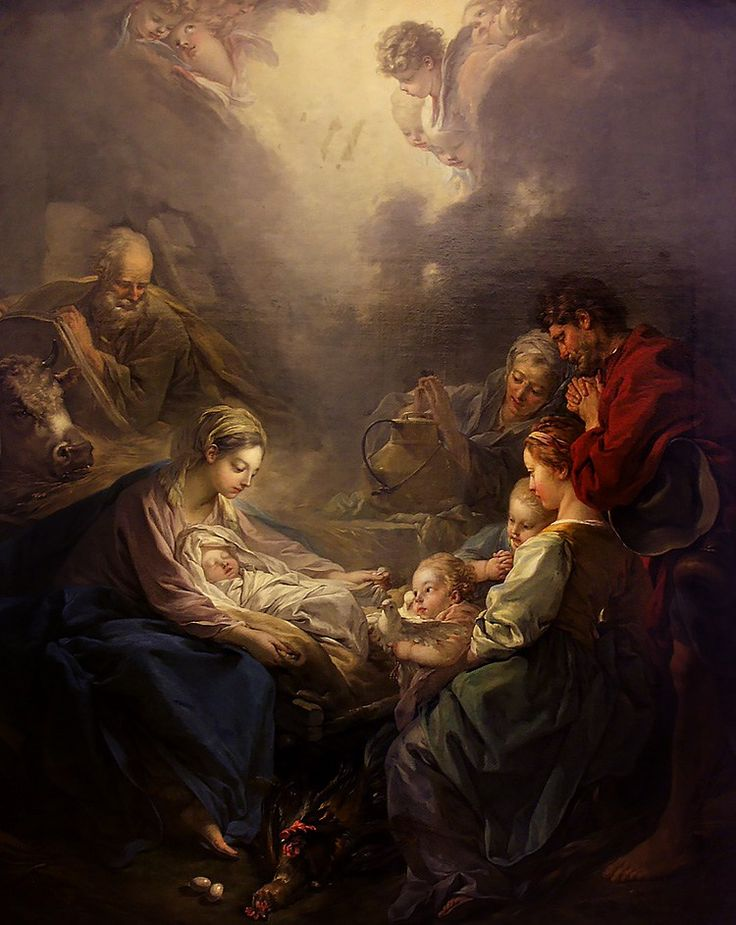 Adoration of the Shepherds by François Boucher (1703-1770)