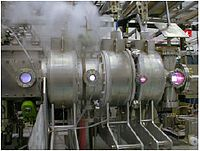 Variable Specific Impulse Magnetoplasma Rocket The testing vacuum chamber, containing the 50 kW VASIMR, operated in ASPL in 2005–2006