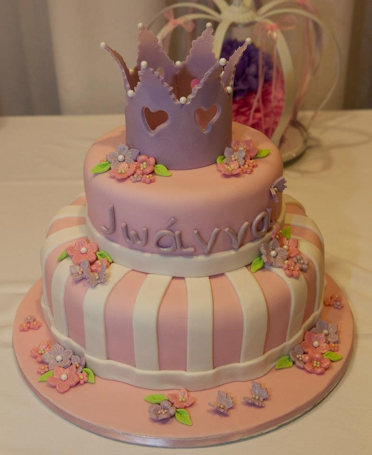 Princess theme cake for a little girl christening :) (create by Sweet Details by Marina, https://www.facebook.com/SweetDetailsbyMarina)