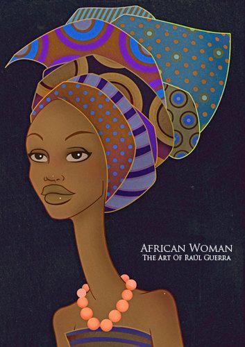 African Woman III vintaga edition - The Art of Raul Guerra